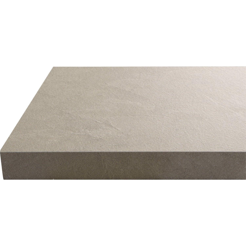 plan de travail stratifi gris anthracite l 280 x p 63 cm pictures to pin on pinterest. Black Bedroom Furniture Sets. Home Design Ideas