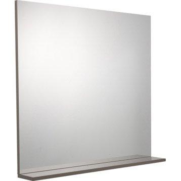 Miroir avec tablette Opale taupe, L80xH75.7xP12 cm