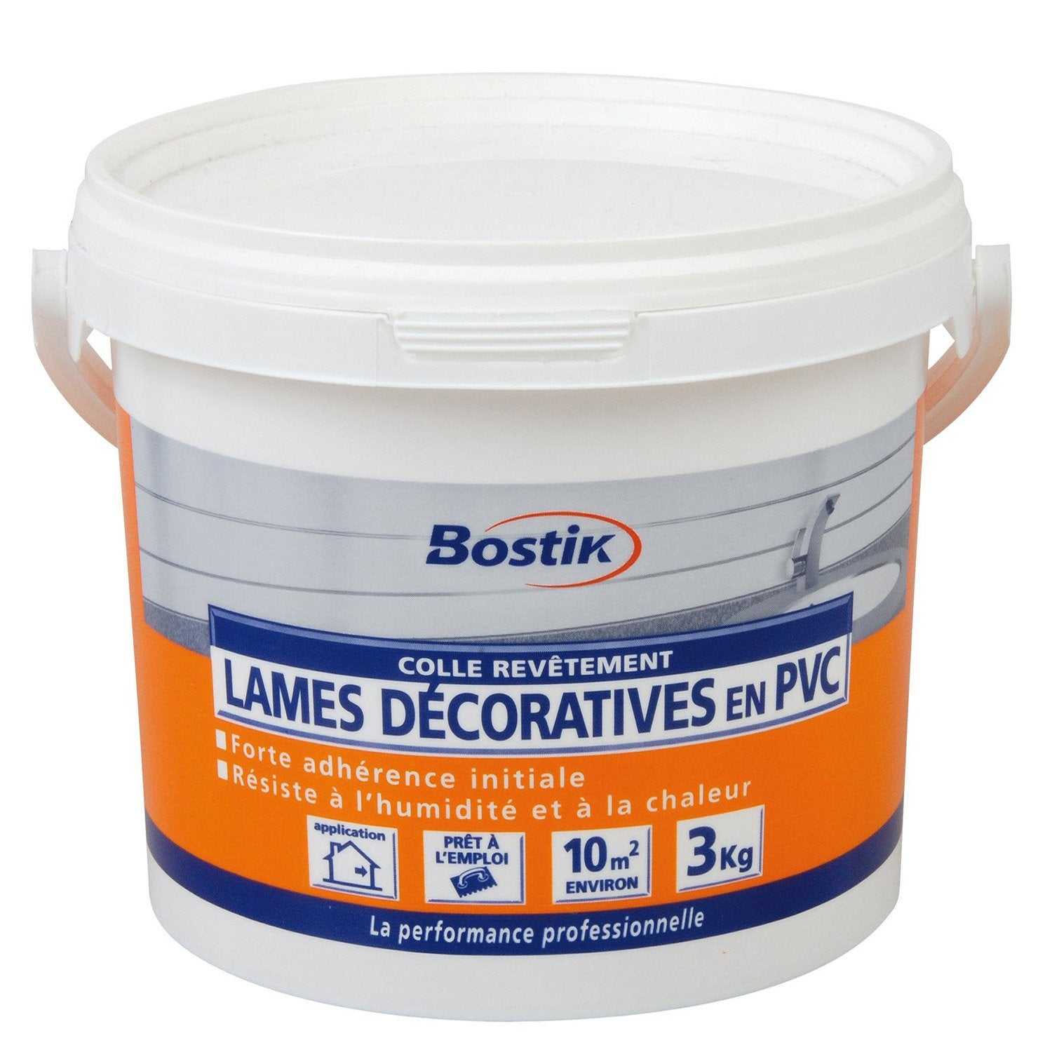 colle pour lambris pvc bostik 3 kg leroy merlin