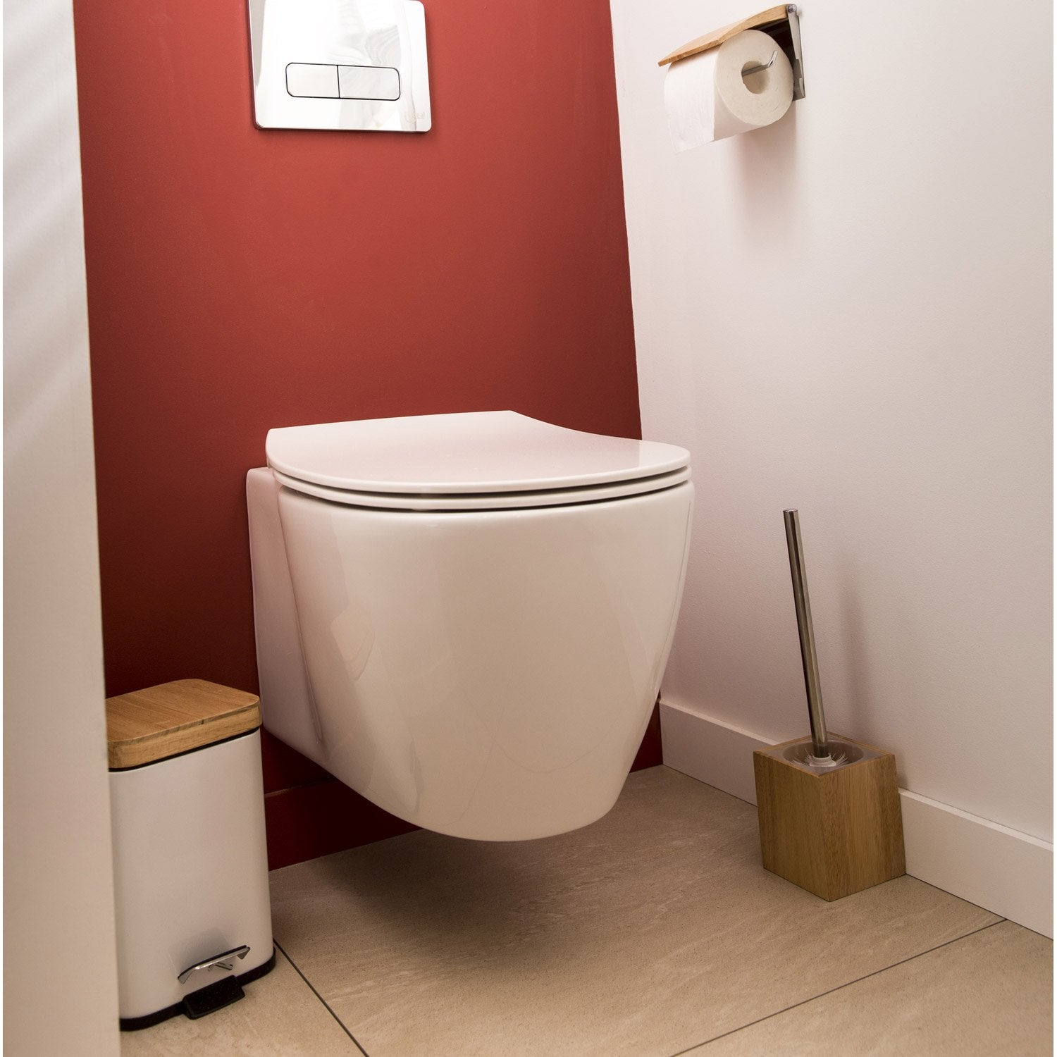 Pack wc suspendu b ti sol ideal standard idealsmart for Hauteur standard wc suspendu