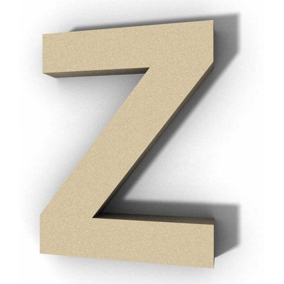 lettre bois majuscule z 12 cm x 12 cm leroy merlin. Black Bedroom Furniture Sets. Home Design Ideas