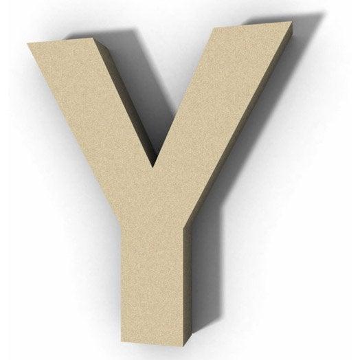 lettre bois majuscule y 12 cm x 12 cm leroy merlin. Black Bedroom Furniture Sets. Home Design Ideas