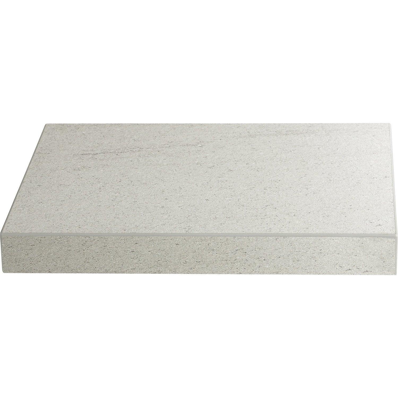 Plan de travail stratifi basaltino blanc mat x cm mm leroy merlin Plan de travail blanc