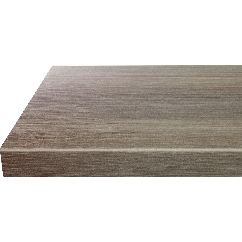 plan snack stratifi ceramic wood gris mat x cm mm leroy merlin. Black Bedroom Furniture Sets. Home Design Ideas
