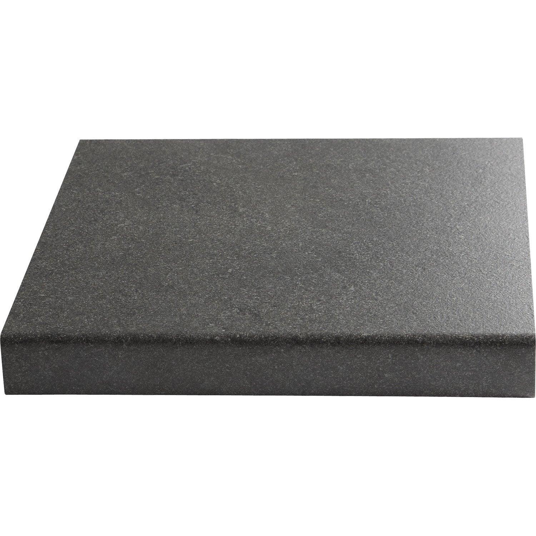 plan d 39 angle stratifi effet pierre basalt gris mat x cm mm leroy merlin. Black Bedroom Furniture Sets. Home Design Ideas