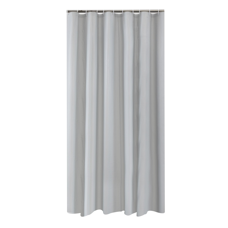 rideau de douche en plastique gris x cm funky leroy merlin. Black Bedroom Furniture Sets. Home Design Ideas