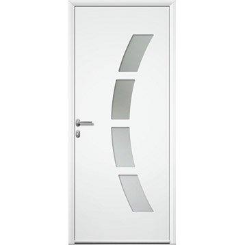 Porte d 39 entr e aluminium toledo artens poussant droit h215 x l90 cm ler - Leroy merlin porte entree ...