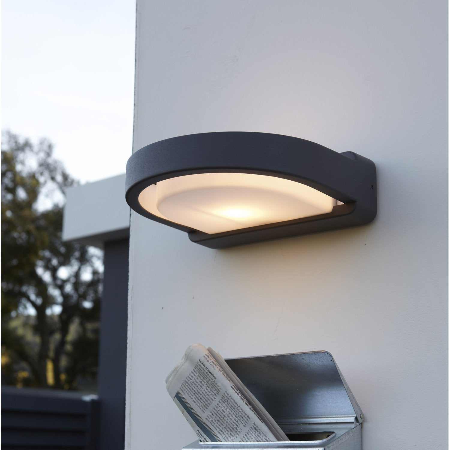Applique ext rieure clifford e27 40 w anthracite inspire - Guirlandes lumineuses exterieures leroy merlin ...