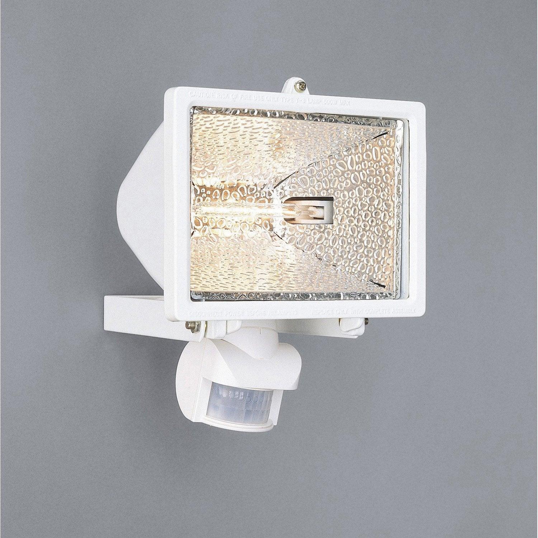 projecteur fixer d tection ext rieur tanko r7s 118 mm 400 w 8550 lm blanc leroy merlin. Black Bedroom Furniture Sets. Home Design Ideas