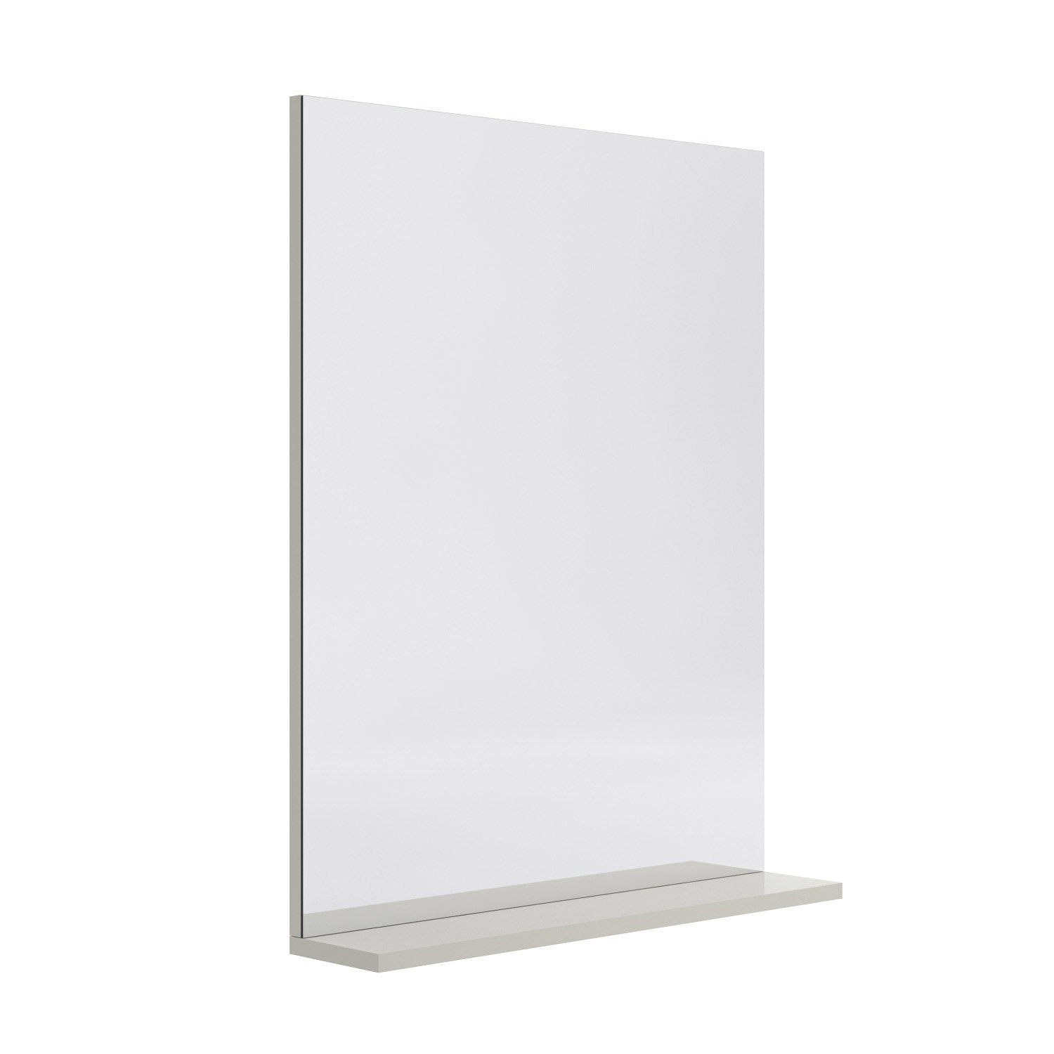 Miroir avec tablette gr ge l 60 0 cm opale leroy merlin for Miroir tablette
