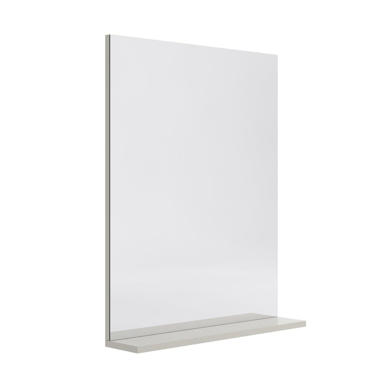 Miroir avec tablette opale beige l120xh75 7xp12 - Tablette verre leroy merlin ...