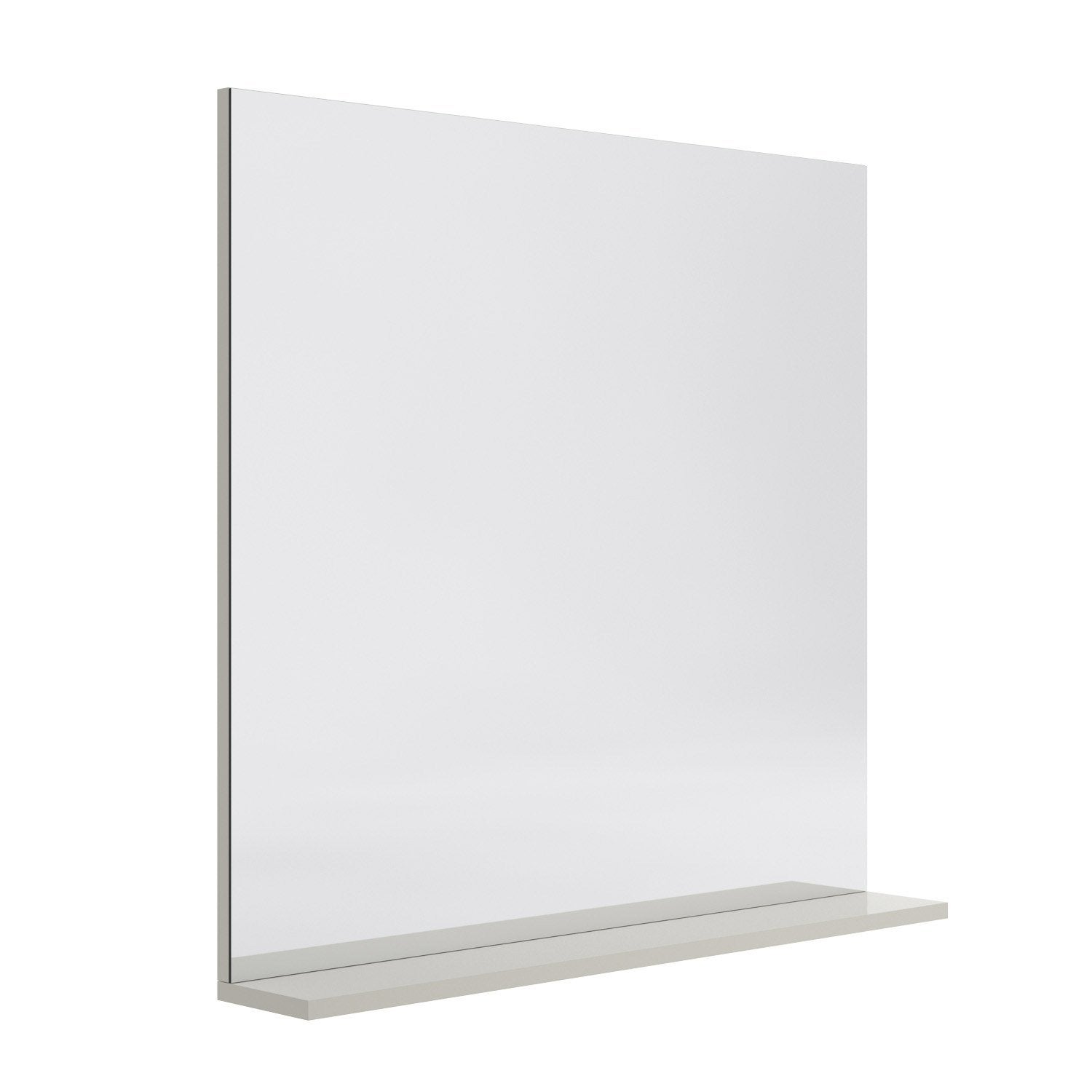 Miroir avec tablette cm opale leroy merlin for Miroir tablette
