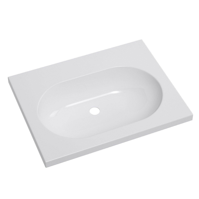 Plan vasque opale c ramique 61 cm leroy merlin for Plan vasque leroy merlin