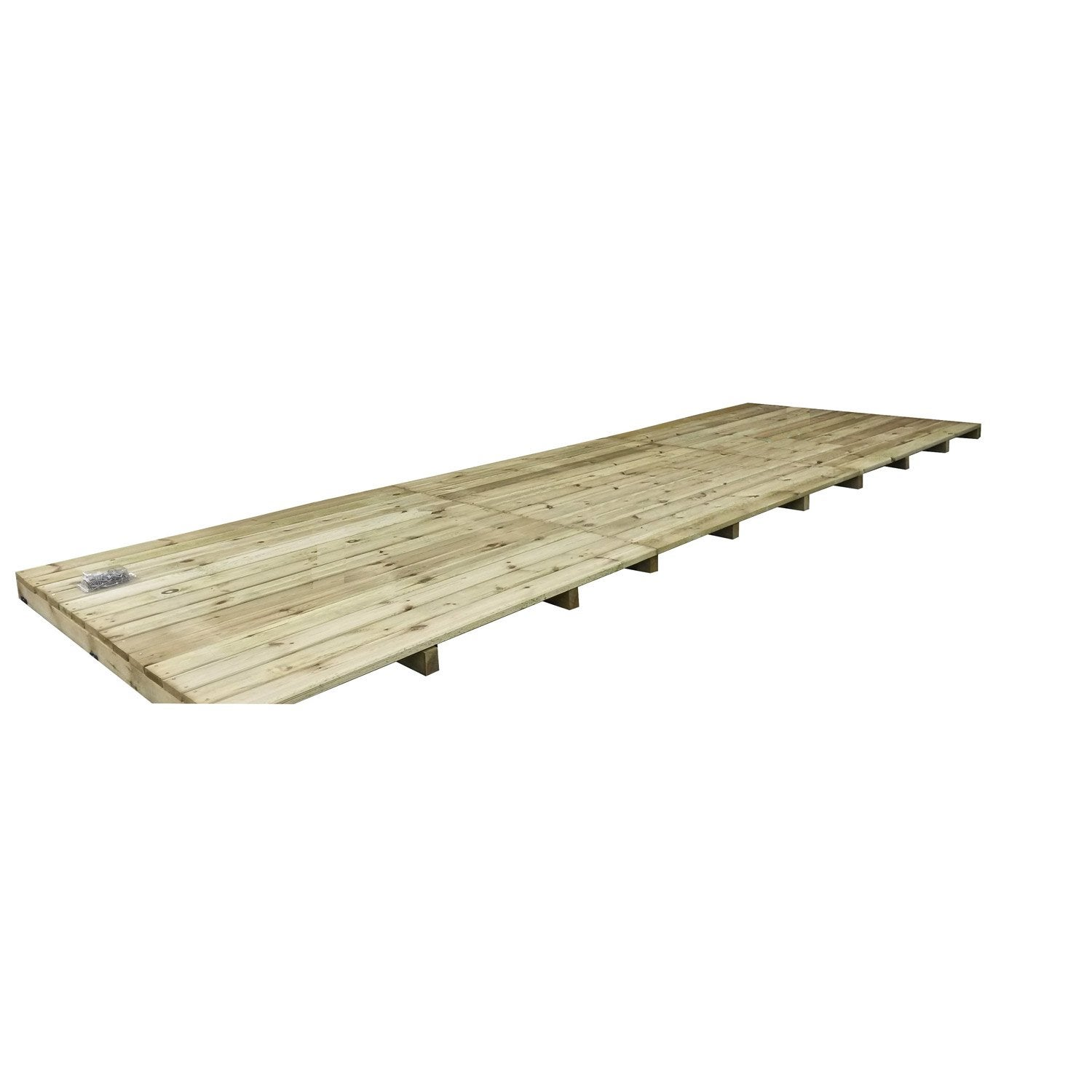 Terrasse bois pin, naturel, L180 x l12 cm x Ep28 mm  Leroy Merlin