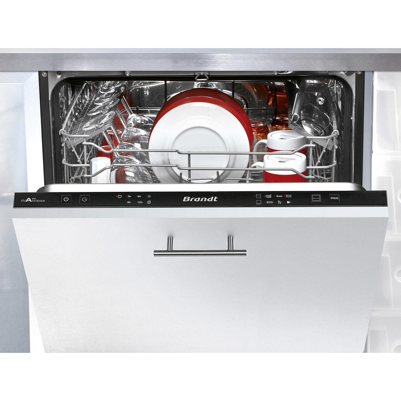lave vaisselle int grable cm brandt vh1505j 13 couverts leroy merlin. Black Bedroom Furniture Sets. Home Design Ideas