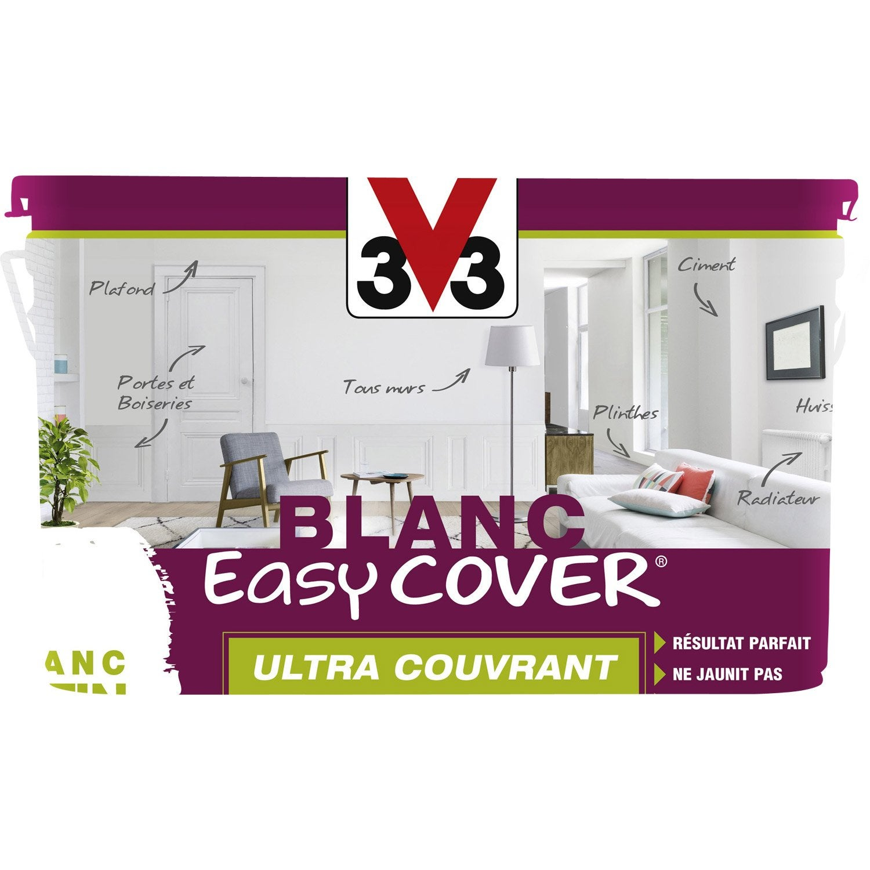 Peinture blanche mur plafond et boiserie easy cover v33 satin 5 l leroy m - Peinture v33 plafond ...