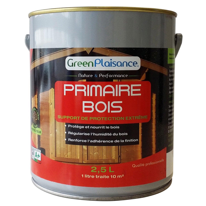 Primaire pour bois green plaisance 2 5 l leroy merlin - Bois pour menuiserie exterieure ...