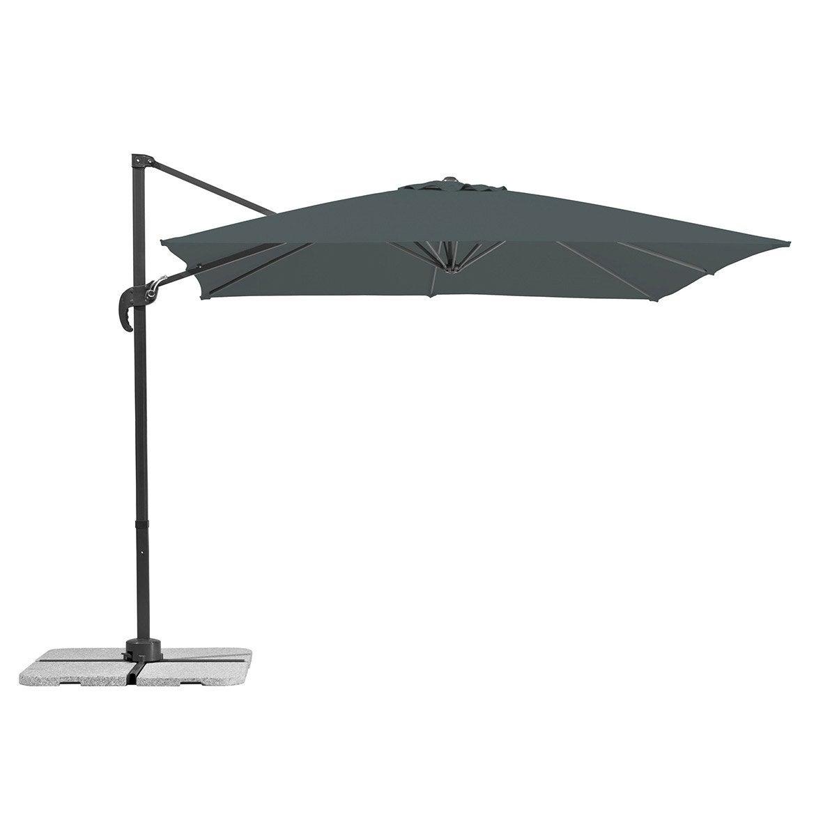 parasol d port rhodos junior anthracite carr x l. Black Bedroom Furniture Sets. Home Design Ideas