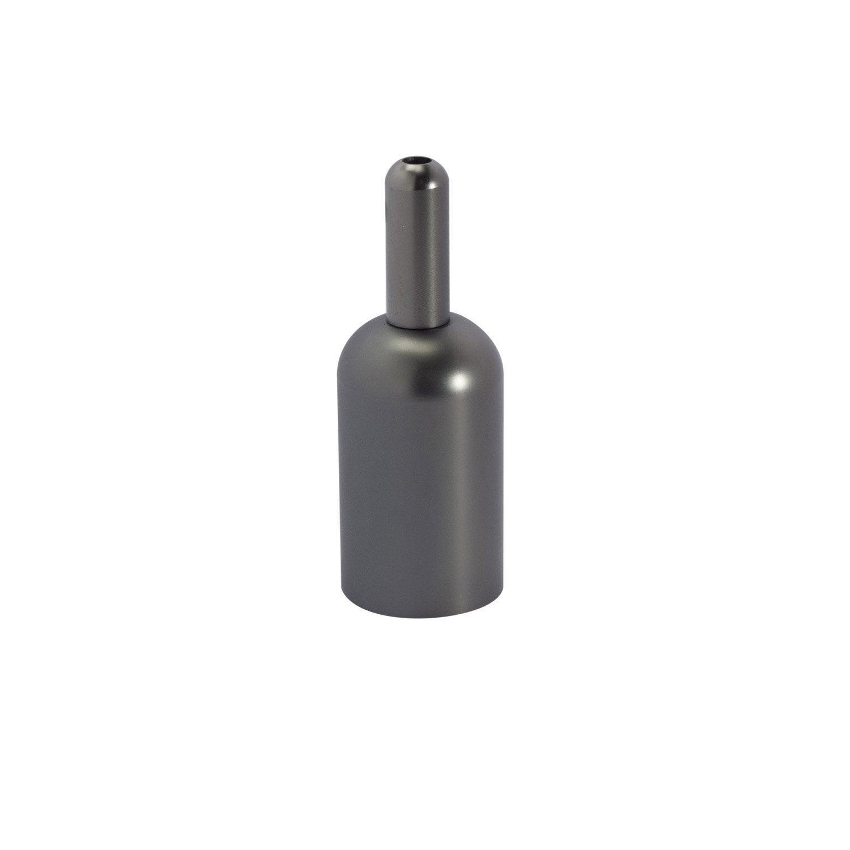 douille lectrique vis e27 acier laitonn gris leroy merlin. Black Bedroom Furniture Sets. Home Design Ideas
