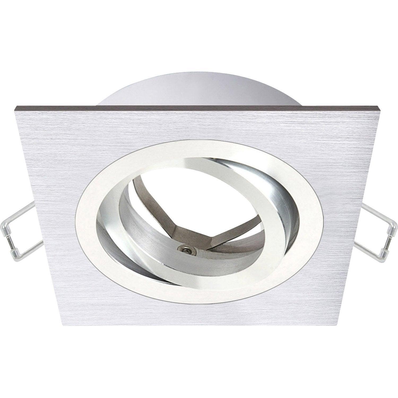 Anneau pour spot encastrer quarto orientable sans ampoule inspire aluminium - Spot encastrable led leroy merlin ...