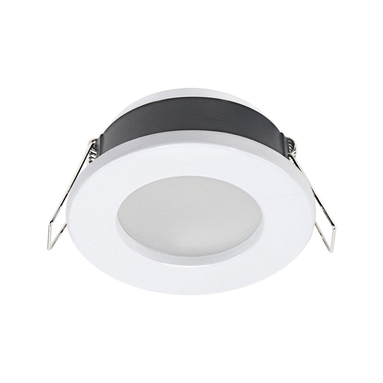 anneau pour spot encastrer salle de bains lecco fixe inspire blanc leroy merlin. Black Bedroom Furniture Sets. Home Design Ideas