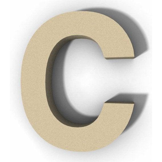 lettre bois majuscule c 12 cm x 12 cm leroy merlin. Black Bedroom Furniture Sets. Home Design Ideas