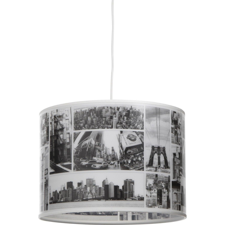 Suspension street corep noir et blanc 100 watts diam 35 - Suspension leroy merlin ...