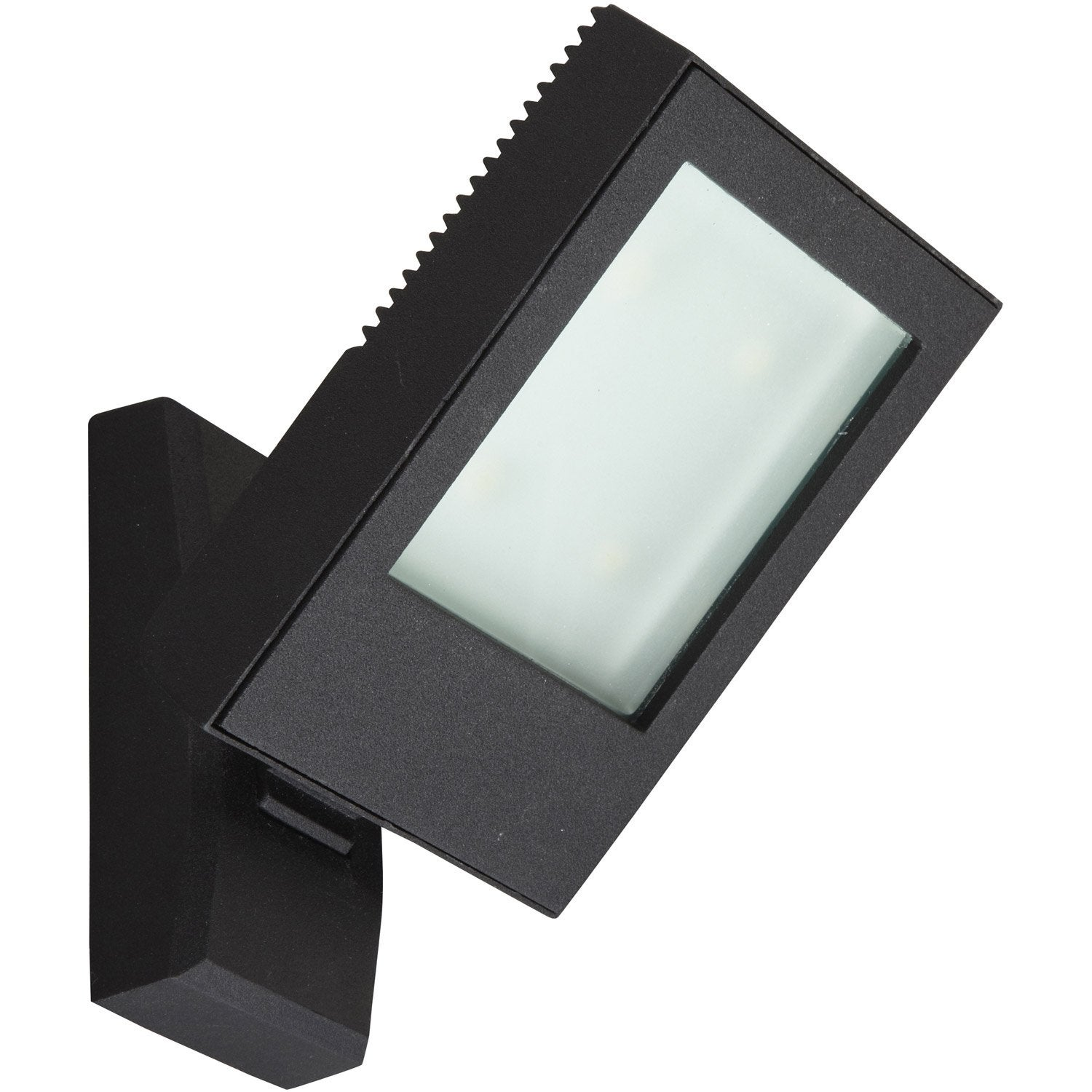 Applique montante ext rieure jade led int gr e noir for Led exterieur leroy merlin