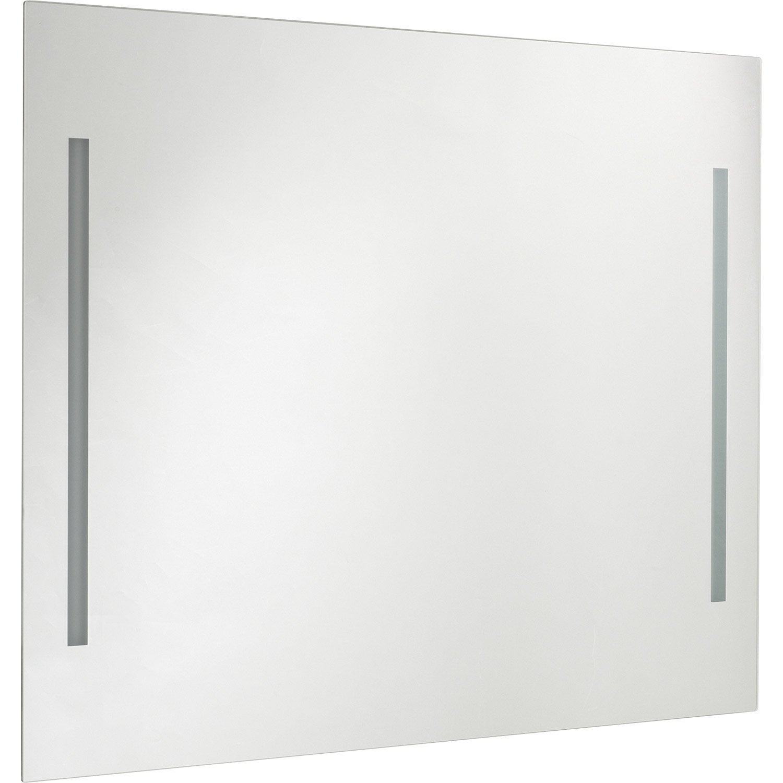 Miroir avec clairage int gr n o sensea leroy merlin for Miroir avec eclairage