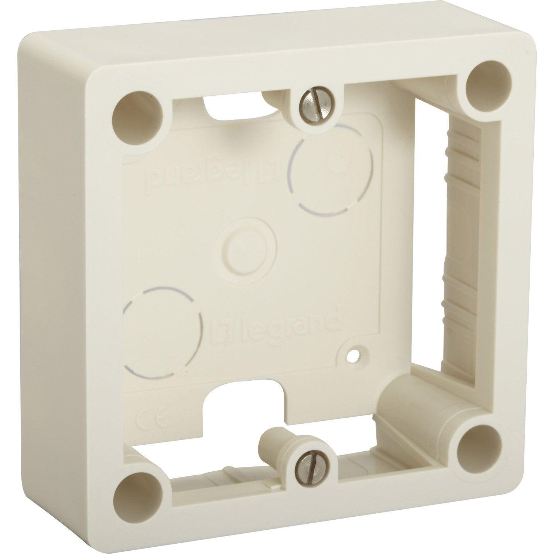 cadre saillie legrand ivoire leroy merlin. Black Bedroom Furniture Sets. Home Design Ideas