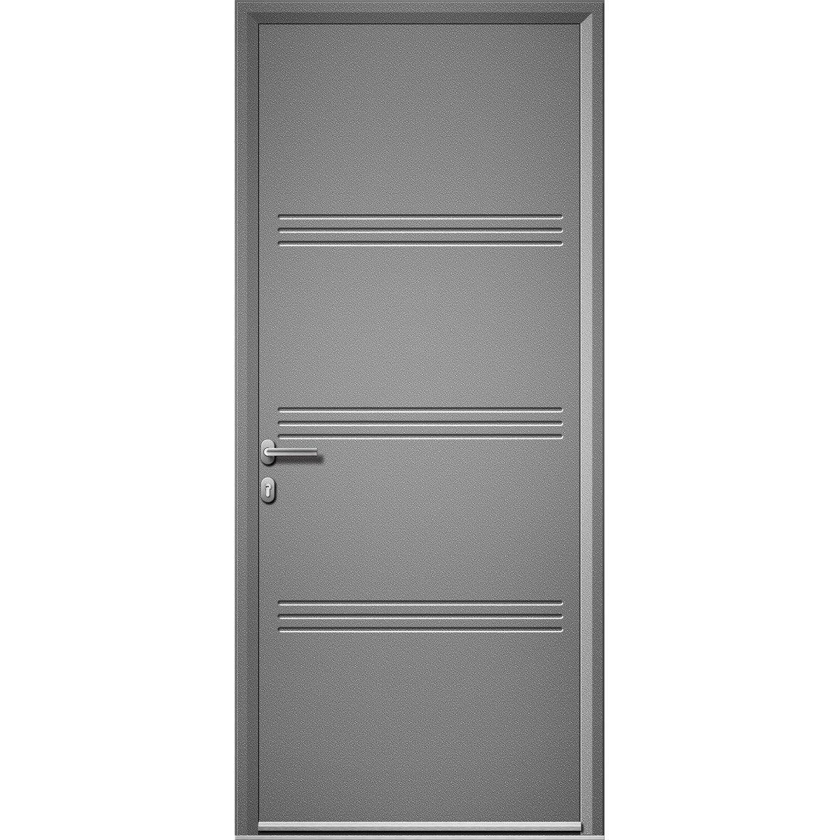 Porte alu leroy merlin porte d 39 entr e sur mesure en - Volet roulant porte d entree leroy merlin ...
