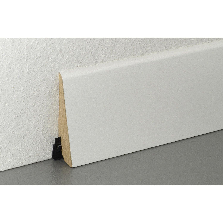 plinthe pour parquet 220 cm x 100 mm x 28 mm leroy merlin. Black Bedroom Furniture Sets. Home Design Ideas