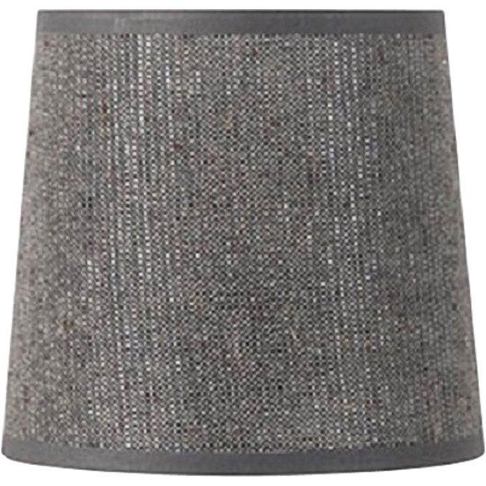 abat jour conique 19 cm coton gris paillettes leroy merlin. Black Bedroom Furniture Sets. Home Design Ideas