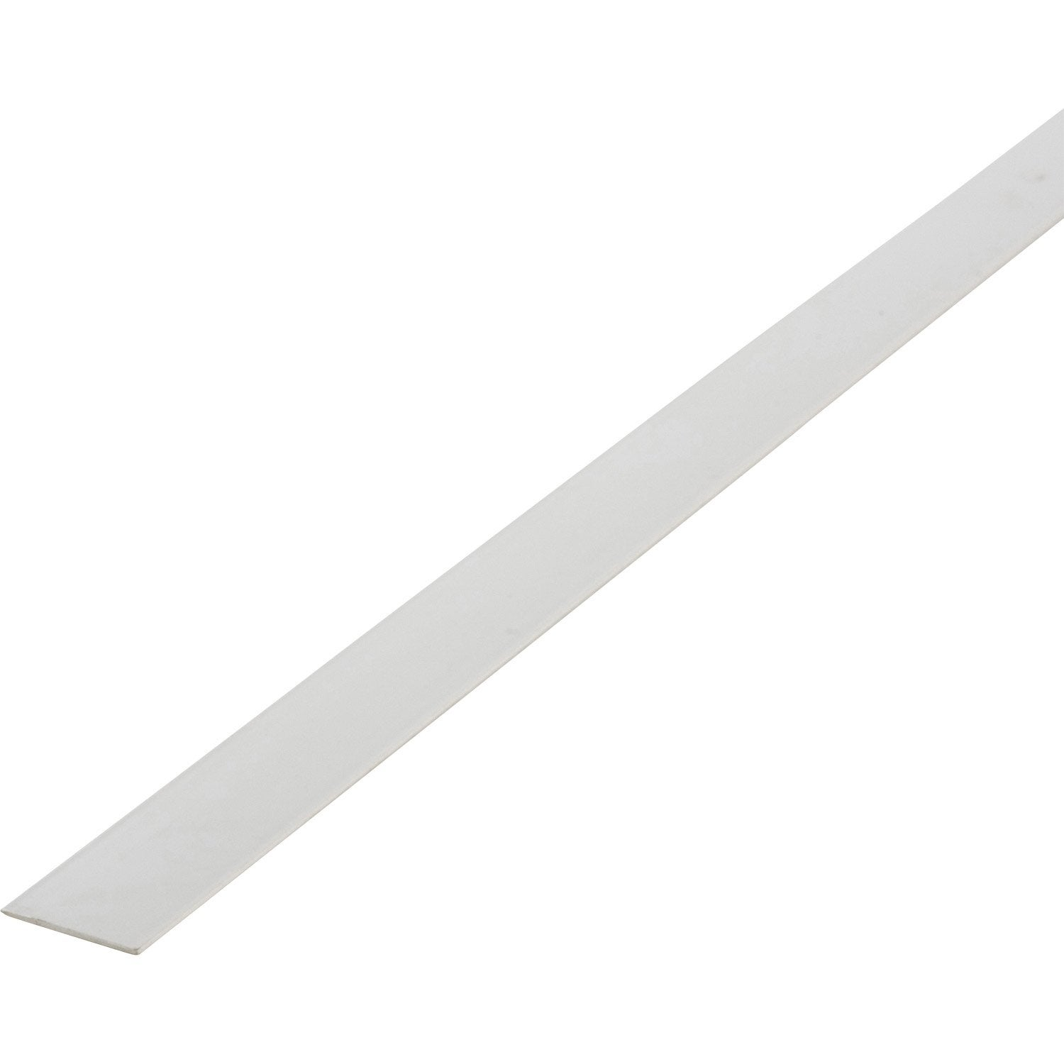 Plat pvc blanc 2 x 40 mm l 2 6 m leroy merlin for Champ plat pvc blanc