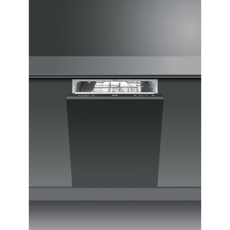 lave vaisselle int grable cm smeg st522 13 couverts leroy merlin. Black Bedroom Furniture Sets. Home Design Ideas