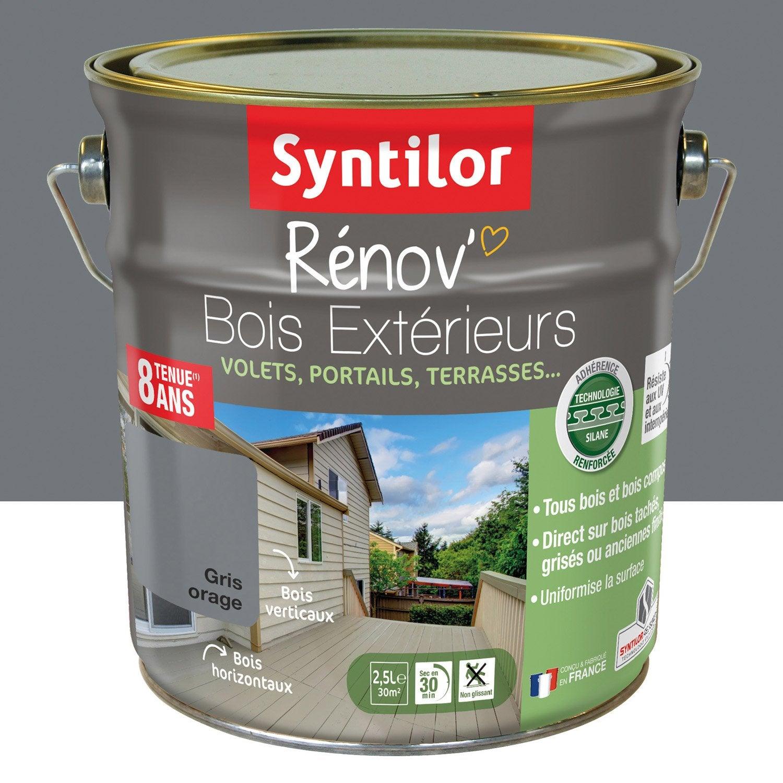 lasure syntilor renov bois syntilor 2 5l gris orage 2 5 l gris orage leroy merlin. Black Bedroom Furniture Sets. Home Design Ideas