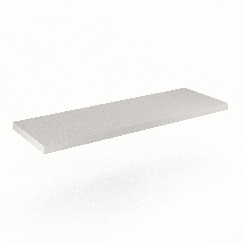 Plan de toilette neo line panneau de particules 150 cm leroy merlin - Panneau de particule ...