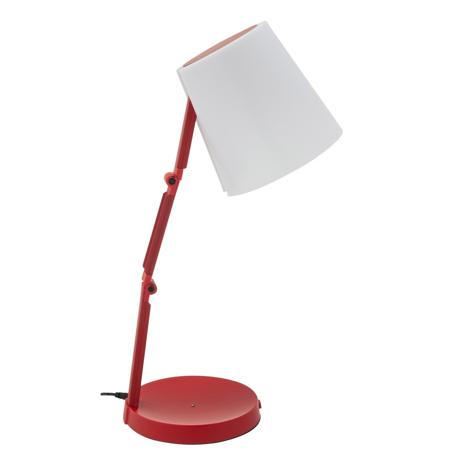 lampe de bureau poser rouge led akimi inspire leroy merlin. Black Bedroom Furniture Sets. Home Design Ideas