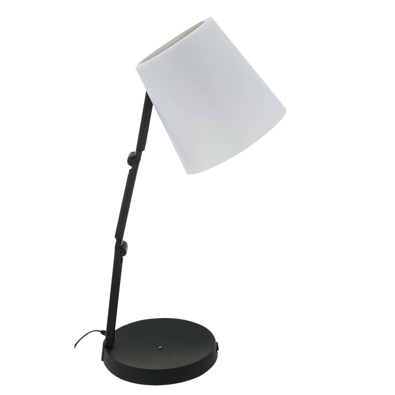 lampe de bureau led int gr e poser noir led akimi inspire leroy merlin. Black Bedroom Furniture Sets. Home Design Ideas
