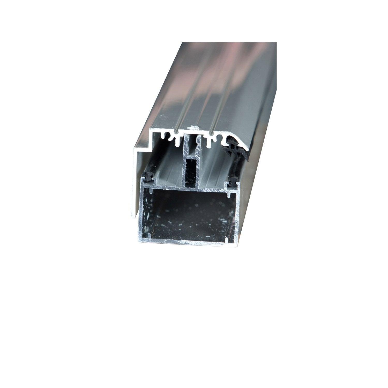 Tube 60 sur mesure rive pour plaque ep 16 mm aluminium l 0 5 m leroy merlin for Plaque alu cuisine sur mesure