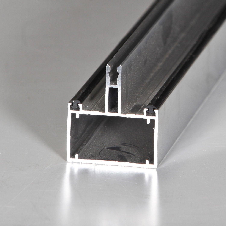 tube 60 sur mesure jonction pour plaque ep 16 mm aluminium l 0 5 m leroy merlin. Black Bedroom Furniture Sets. Home Design Ideas