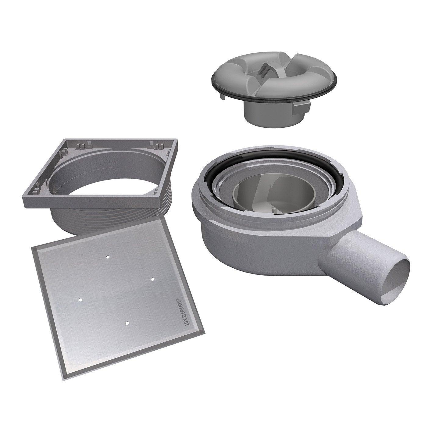 Siphon sortie horizontale avec grille carreler leroy for Grille ouvrante leroy merlin