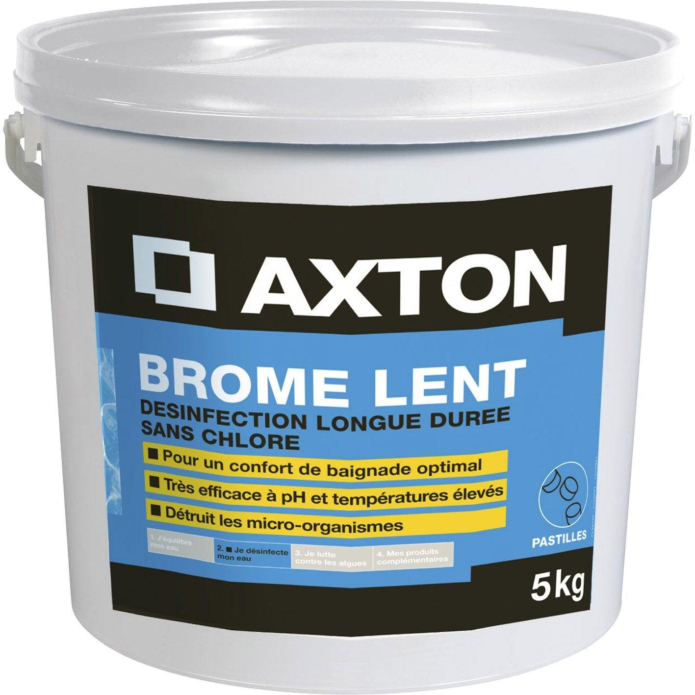 brome lent pour piscine axton 5 kg leroy merlin. Black Bedroom Furniture Sets. Home Design Ideas