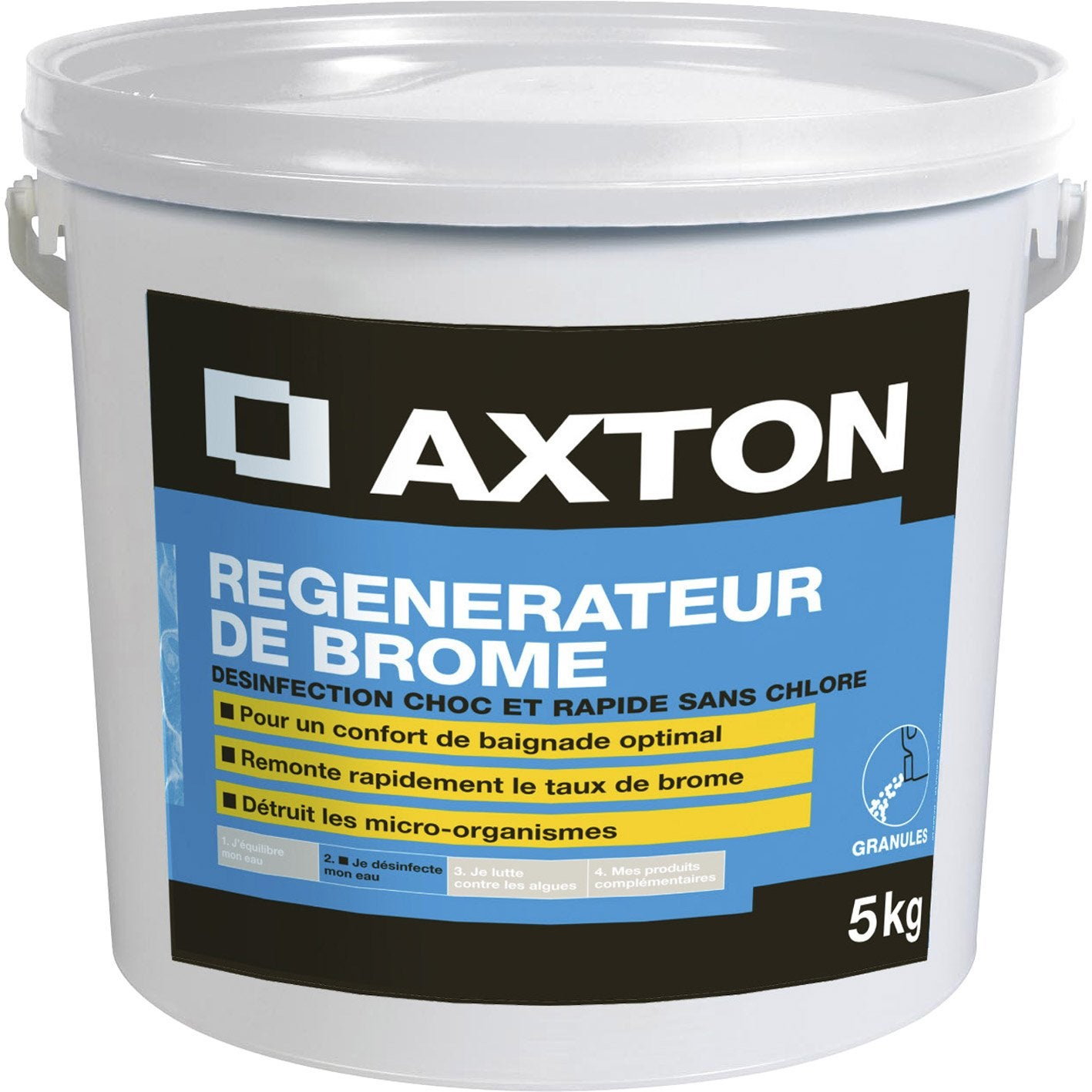 R g n rateur de brome pour piscine axton 5 kg leroy merlin for Brome pour piscine