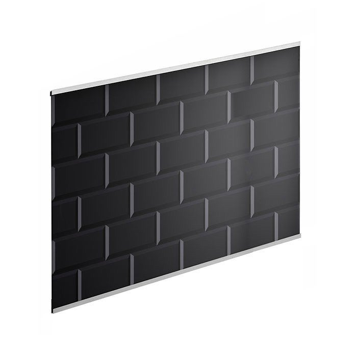 Cr dence verre carrelage m tro noir cm x cm for Carrelage 80 x 80