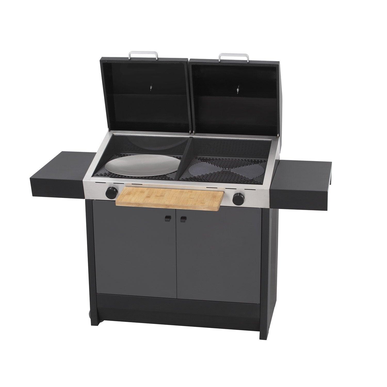 barbecue au gaz cadac braai maxx noir leroy merlin. Black Bedroom Furniture Sets. Home Design Ideas