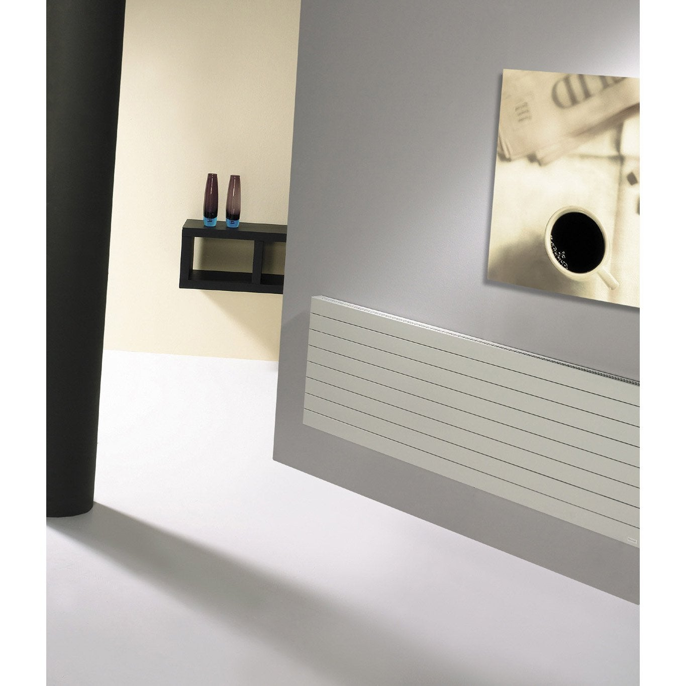 radiateur chauffage central acier loden planitude 1285w leroy merlin. Black Bedroom Furniture Sets. Home Design Ideas