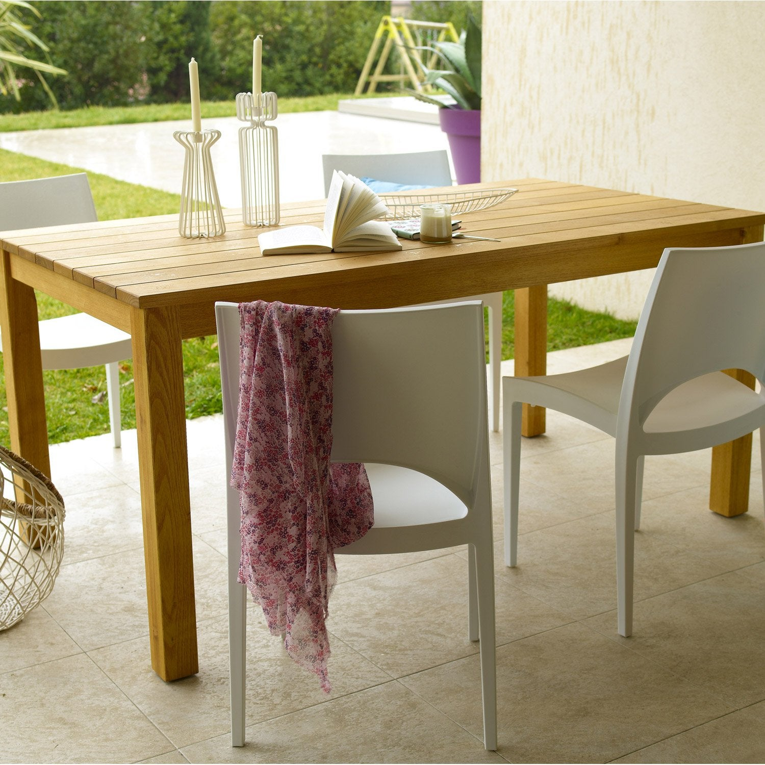Table bois jardin leroy merlin for Table bois jardin