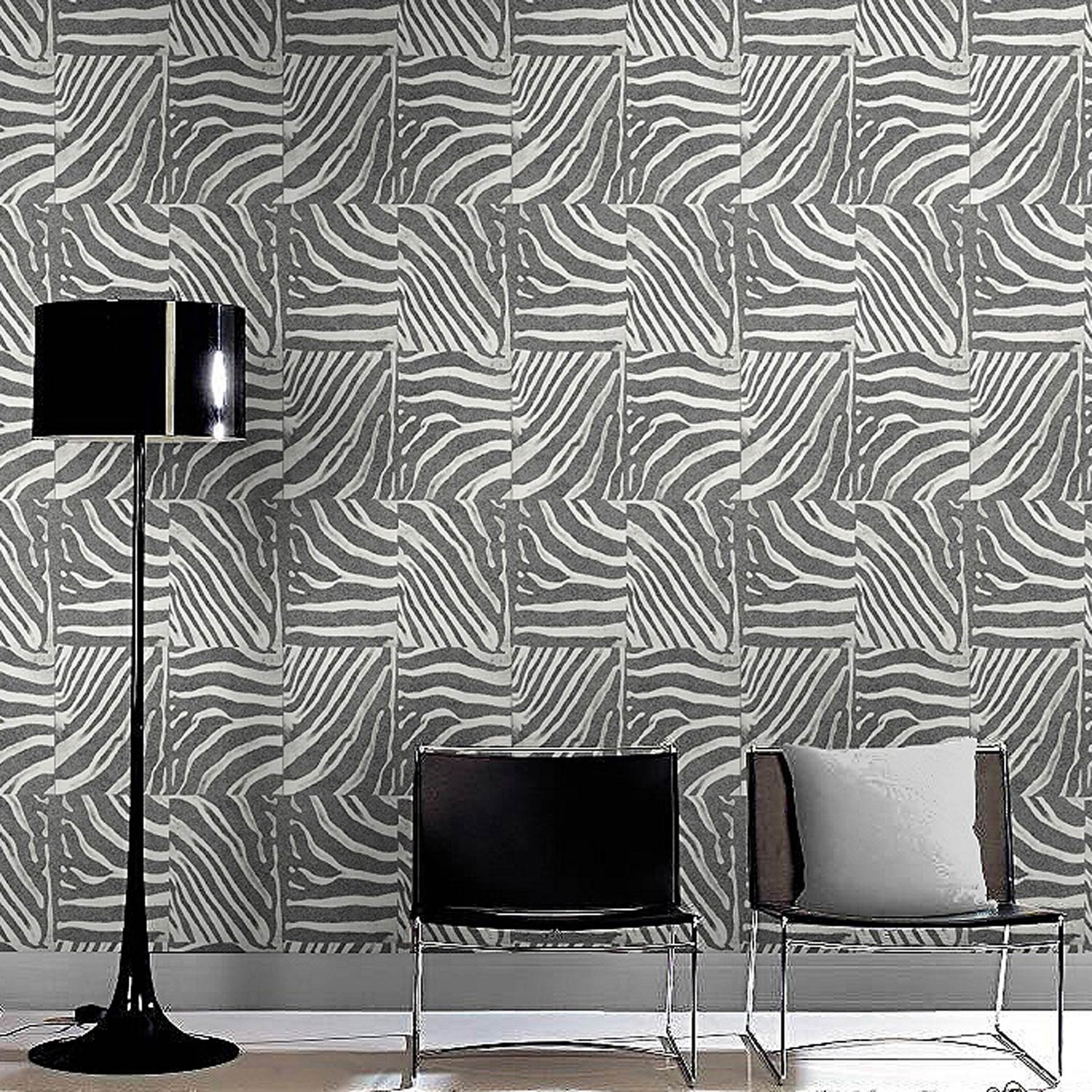 papier peint intiss zebre argent leroy merlin. Black Bedroom Furniture Sets. Home Design Ideas