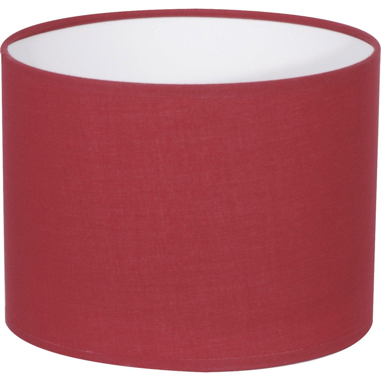 Abat jour tube 18 cm coton cerise inspire leroy merlin - Abat jour suspension leroy merlin ...